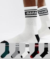 Globe Logo Band Socks 5 Pack - Multi