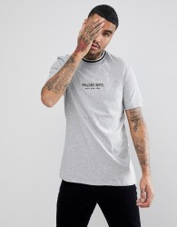 Globe New Yorker T-Shirt With Rib Neckline In Grey - Grey