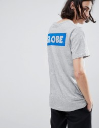 Globe T-Shirt With Back Sticker Logo Print In Grey - Grey
