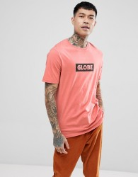 Globe T-Shirt With Box Logo In Coral - Orange