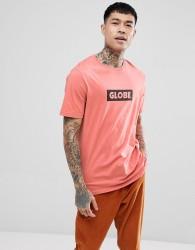 Globe T-Shirt With Box Logo In Coral - Orange