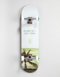Globe Varsity Palm Tree Skateboard - 8 Inches - White