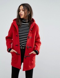 Gloverall Classic Mid Length Duffle Coat - Red
