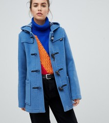 Gloverall Exclusive Slim Mid Length Duffle Coat - Blue