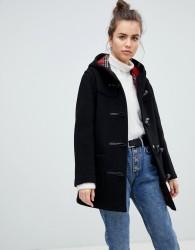 Gloverall Mid Length Duffle Coat - Black