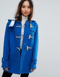 Gloverall Mid Monty Wool Blend Duffle Coat - Blue
