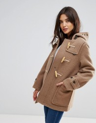 Gloverall Mid Mony Wool Blend Duffle Coat - Beige