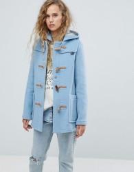 Gloverall Mid Slim Wool Blend Duffle Coat - Blue