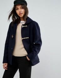Gloverall Shawl Collar Duffle Coat - Navy