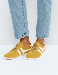 Gola Bullet Suede Trainers In Mustard - Yellow