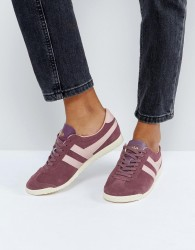 Gola Bullet Suede Trainers In Red With Pink Detail - Red