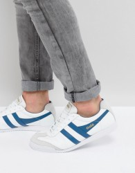 Gola Harrier Leather Trainers - White