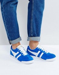 Gola Harrier Suede Trainers - Blue