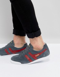 Gola Harrier Suede Trainers - Grey