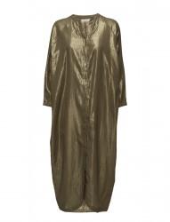 Golden Long Shirt Dress