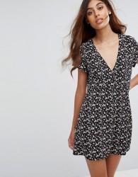 Goldie Floral Tea Dress - Multi