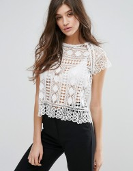 Goldie Harley Lace Top - Cream