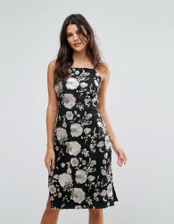 Goldie Metallic Floral Sequin Midi Dress - Multi