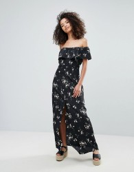 Goldie Off The Shoulder Maxi Dress In Floral Print - Multi