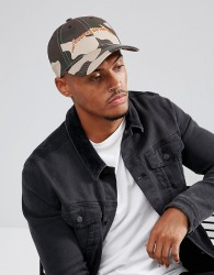Good For Nothing Baseball Cap In Camo With Logo - Green