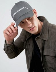 Good For Nothing Baseball Cap In Grey With Logo - Grey