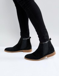 Good For Nothing Chelsea Boots In Black Suede - Black