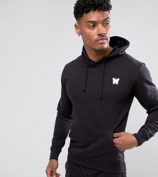 Good For Nothing Hoodie In Black with Chest Logo - Black