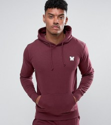 Good For Nothing Hoodie In Burgundy with Chest Logo Exclusive To ASOS - Red