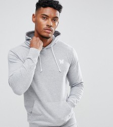 Good For Nothing Hoodie In Grey with Chest Logo - Grey