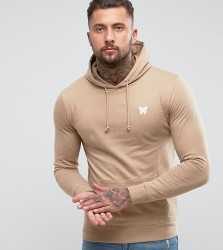 Good For Nothing Hoodie In Stone with Chest Logo Exclusive To ASOS - Stone