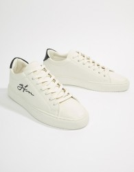 Good For Nothing Logo Trainers In White - White