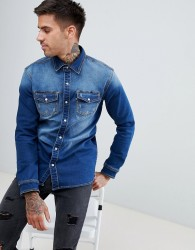 Good For Nothing muscle denim shirt - Blue