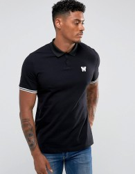 Good For Nothing Muscle Polo T-Shirt In Black - Black