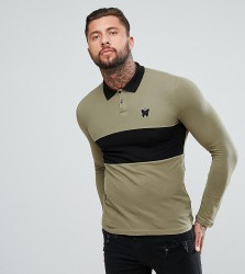 Good For Nothing Muscle Rugby Shirt In Khaki Exclusive To ASOS - Green