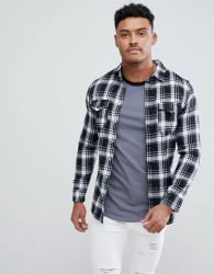 Good For Nothing Muscle Shirt In Black Check - Black