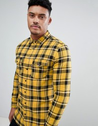 Good For Nothing muscle shirt in yellow check - Yellow