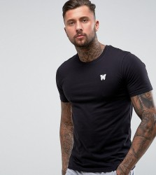 Good For Nothing Muscle T-Shirt In Black with Chest Logo - Black