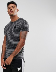 Good For Nothing Muscle T-Shirt In Black With Stripes - Black