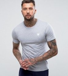 Good For Nothing Muscle T-Shirt In Grey with Chest Logo - Grey