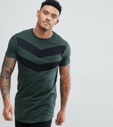 Good For Nothing Muscle T-Shirt In Khaki With Chevron Print Exclusive To ASOS - Green