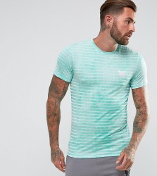 Good For Nothing Muscle T-Shirt In Mint Stripe - Green