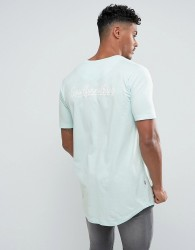Good For Nothing Muscle T-Shirt In Mint With Back Print - Green