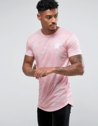 Good For Nothing Muscle T-Shirt In Pink Camo - Pink