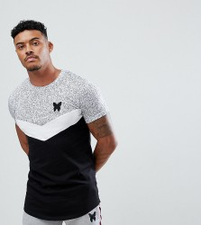 Good For Nothing Muscle T-Shirt In Speckle With Contrast Panel Exclusive To ASOS - Black