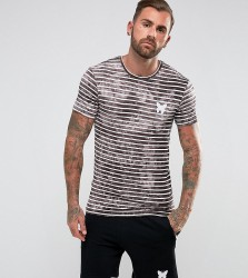 Good For Nothing Muscle T-Shirt In Stone Stripe - Stone
