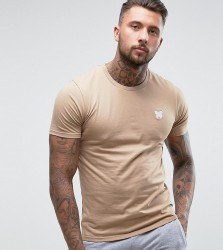 Good For Nothing Muscle T-Shirt In Stone with Chest Logo - Stone