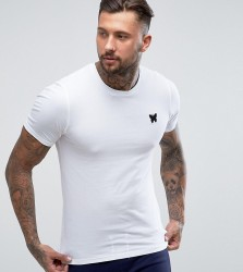 Good For Nothing Muscle T-Shirt In White with Chest Logo - White