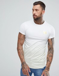 Good For Nothing Muscle T-Shirt In White With Gold Speckle - White