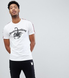 Good For Nothing Muscle T-Shirt In White With Scorpion Logo And Taping Exclusive To ASOS - White