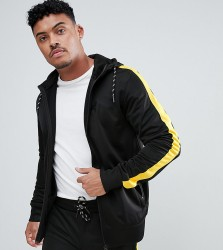 Good For Nothing Muscle Track Jacket In Black With Yellow Side Stripe Exclusive To ASOS - Black
